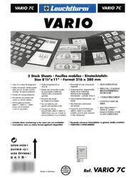 VARIO -  FEUILLE DE CLASSEMENT CLAIRE, 7 BANDES PAQUET DE 5 FEUILLES