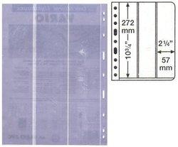 VARIO -  FEUILLES DE CLASSEMENT CLAIRES, 3 BANDES VERTICALES - PAQUET DE 5
