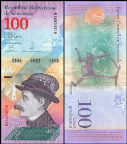 VENEZUELA -  100 BOLIVARES 2018 (UNC)