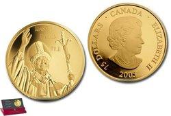 VISITE DU PAPE JEAN-PAUL II AU CANADA -  PIÈCES DU CANADA 2005