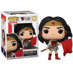 WONDER WOMAN -  FIGURINE POP! EN VINYLE DE WONDER WOMAN SUPERMAN RED SON (10 CM) -  WONDER WOMAN 80TH ANNIVERSARY 392