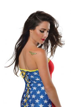 WONDER WOMAN -  TATOUAGE BRILLANT AUTOCOLLANTS