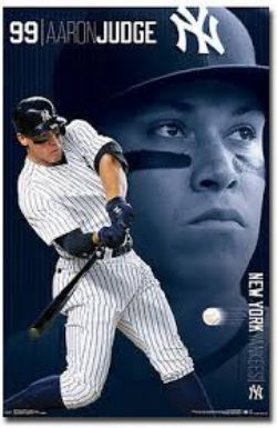 YANKEES DE NEW YORK -  AFFICHE DE AARON JUDGE #99 (56 X 86.5 CM)