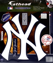 YANKEES DE NEW YORK -  LOGO - AUTOCOLLANT MURAL RÉUTILISABLE