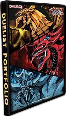 YU-GI-OH! -  PORTFOLIO 9 POCHETTES - SLIFER, OBELISK & RA (10 PAGES)