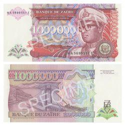 ZAÏRE -  1 000 000 ZAÏRES 1992 (UNC)
