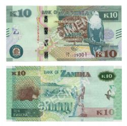 ZAMBIE -  10 KWACHA 2018 (UNC)