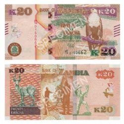 ZAMBIE -  20 KWACHA 2018 (UNC)
