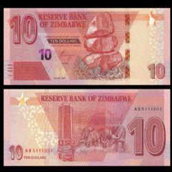 ZIMBABWE -  10 DOLLARS 2020 (UNC)