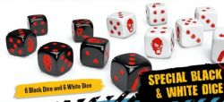 ZOMBICIDE 2ND EDITION -  SPECIAL BLACK AND WHITE DICE