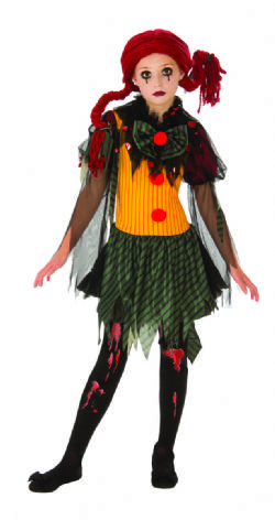 ZOMBIE -  COSTUME DE ZOMBIE CLOWN (ENFANT)