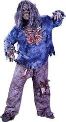 ZOMBIE -  COSTUME ZOMBIE COMPLET (ADULTE - TAILLE FORTE)